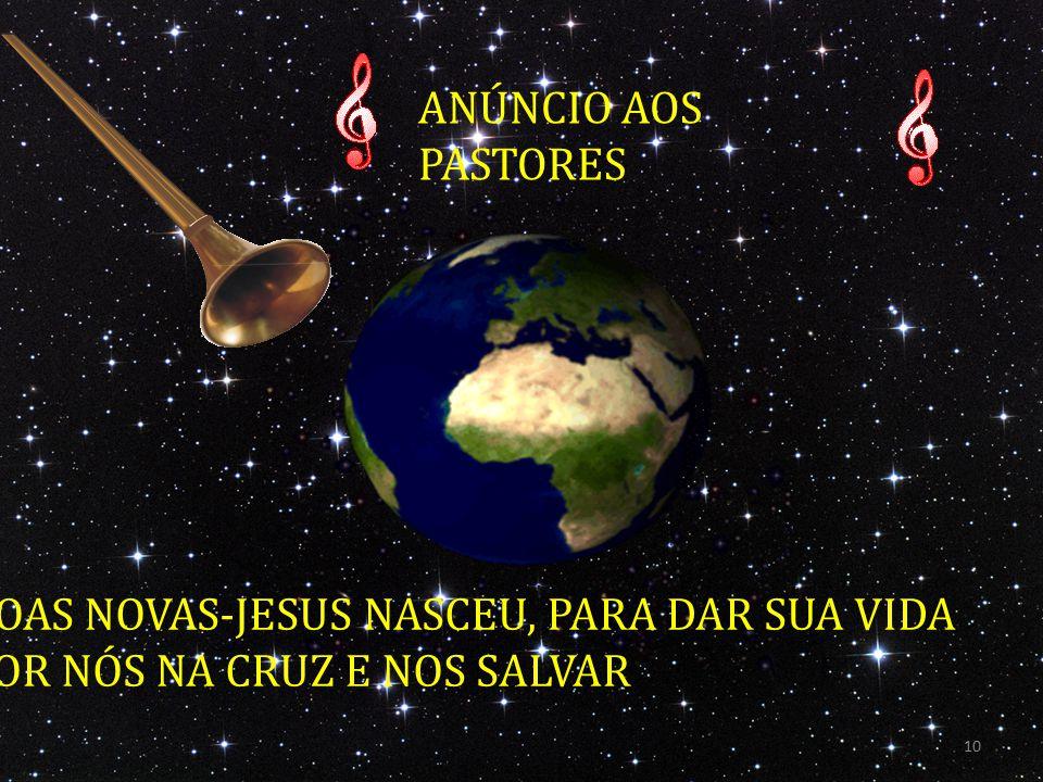 ANÚNCIO AOS PASTORES BOAS NOVAS-JESUS NASCEU, PARA DAR SUA VIDA POR NÓS NA CRUZ E NOS SALVAR