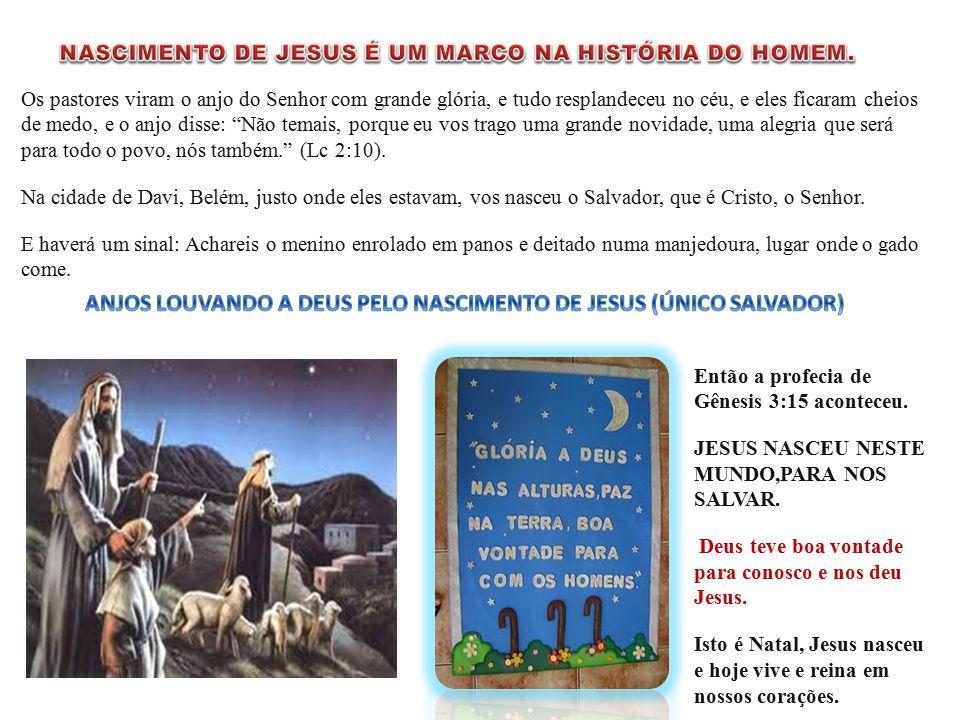 ANJOS LOUVANDO A DEUS PELO NASCIMENTO DE JESUS (ÚNICO SALVADOR)
