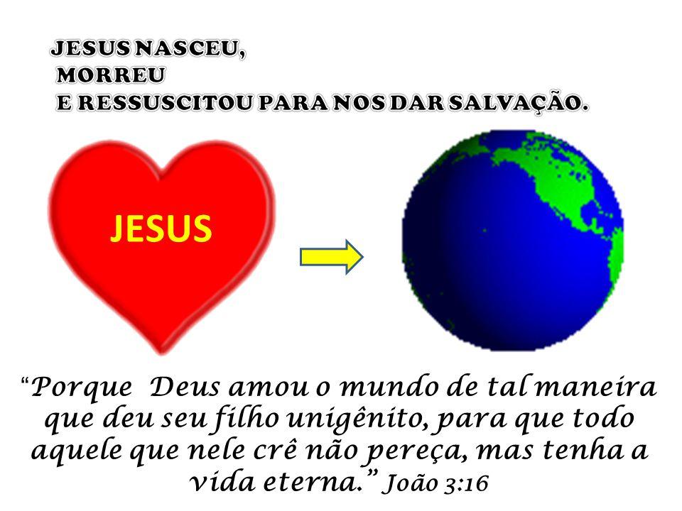 JESUS NASCEU, MORREU. E RESSUSCITOU PARA NOS DAR SALVAÇÃO. JESUS.