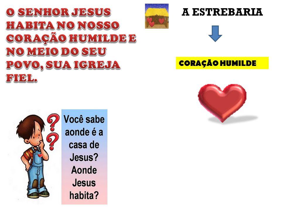 O SENHOR JESUS HABITA NO NOSSO CORAÇÃO HUMILDE E NO MEIO DO SEU POVO, SUA IGREJA FIEL.