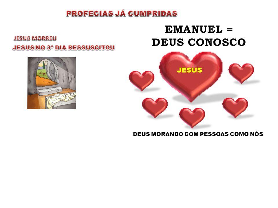 EMANUEL = DEUS CONOSCO PROFECIAS JÁ CUMPRIDAS JESUS JESUS MORREU