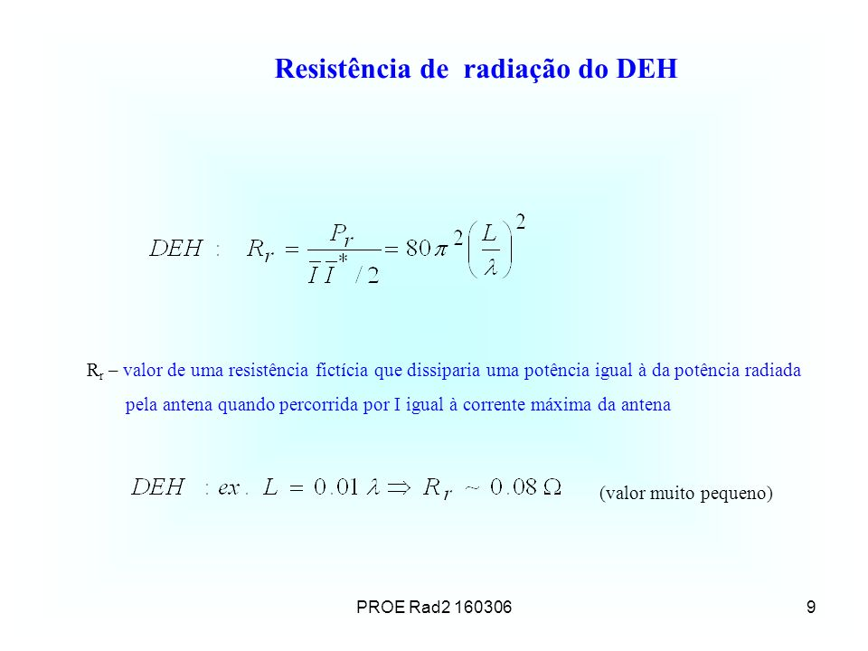 Resistência de radiação do DEH