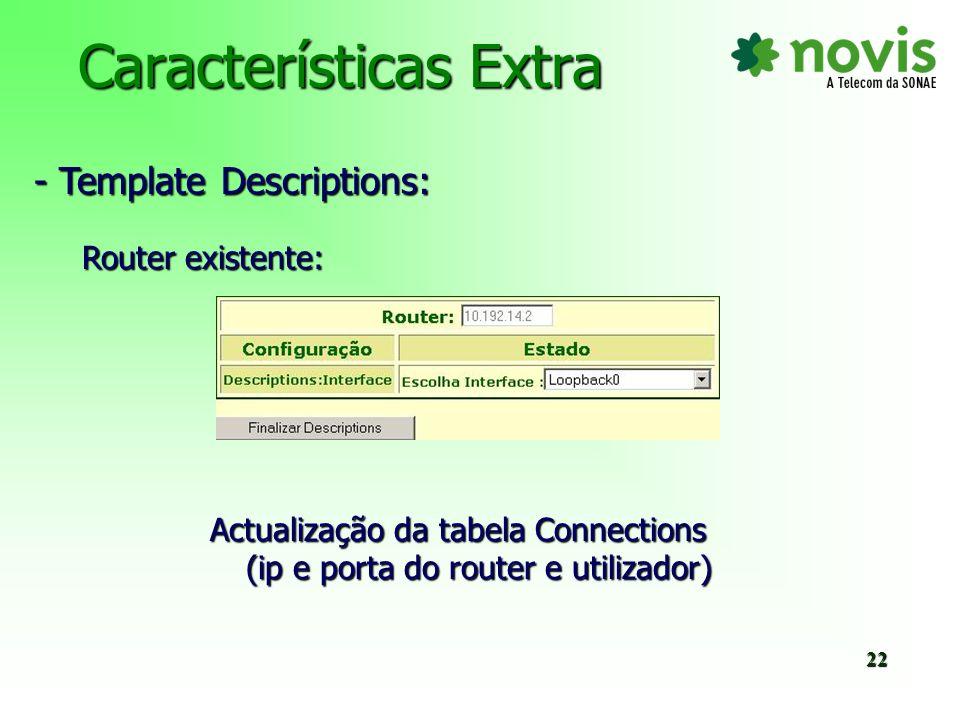 Características Extra