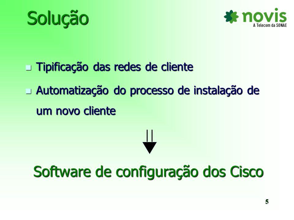 Software de configuração dos Cisco