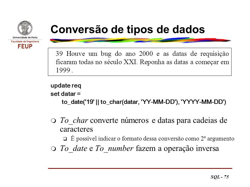 Conversão de tipos de dados