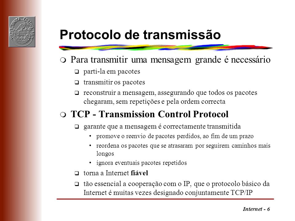 Protocolo de transmissão