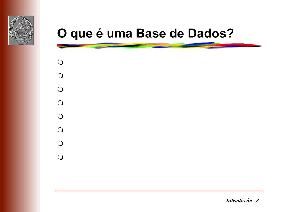 O que é uma Base de Dados