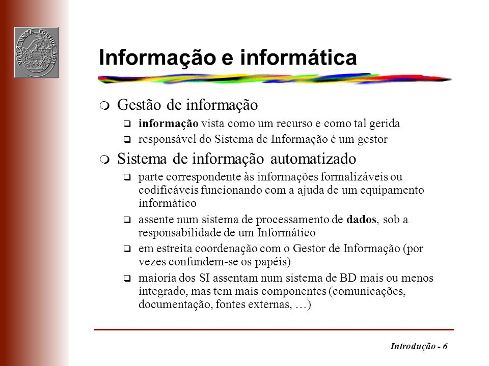 Informação e informática