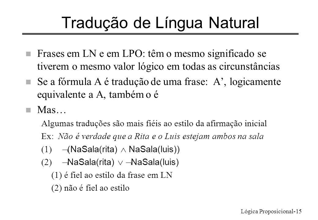 Tradução de Língua Natural