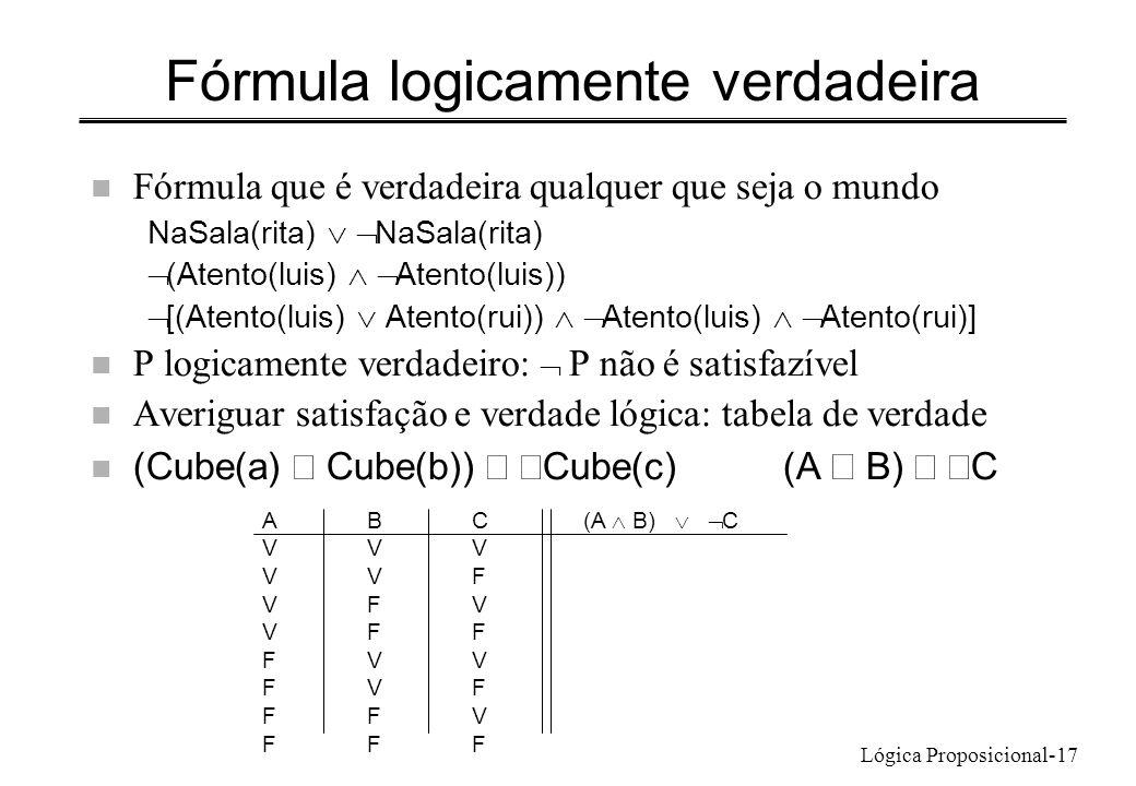 Fórmula logicamente verdadeira