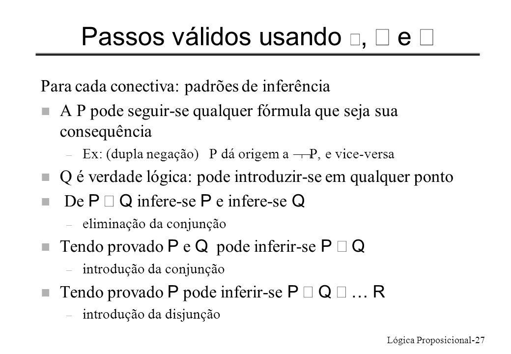 Passos válidos usando Ø, Ù e Ú