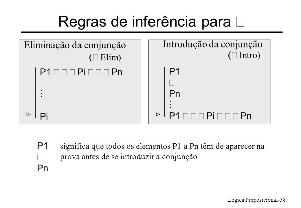 Regras de inferência para Ù
