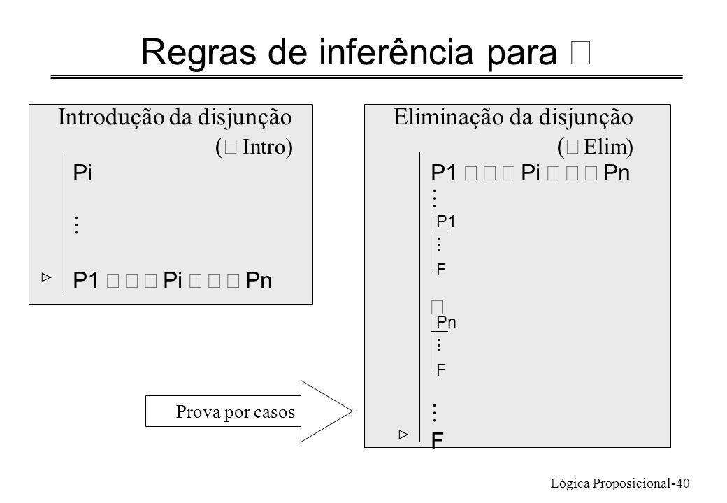 Regras de inferência para Ú