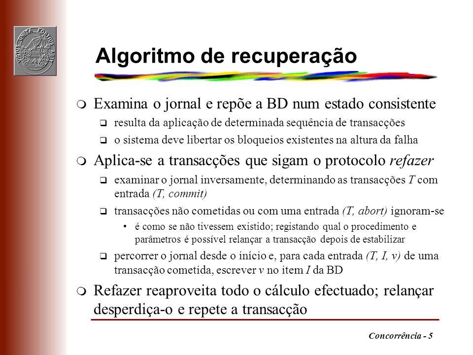 Algoritmo de recuperação