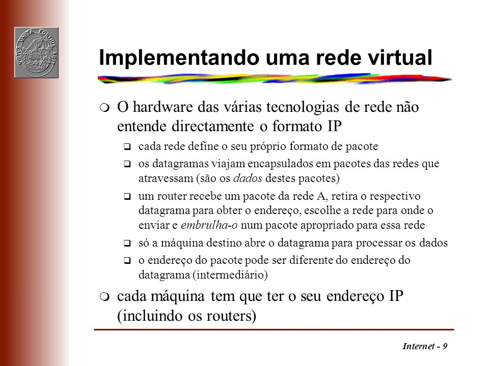 Implementando uma rede virtual
