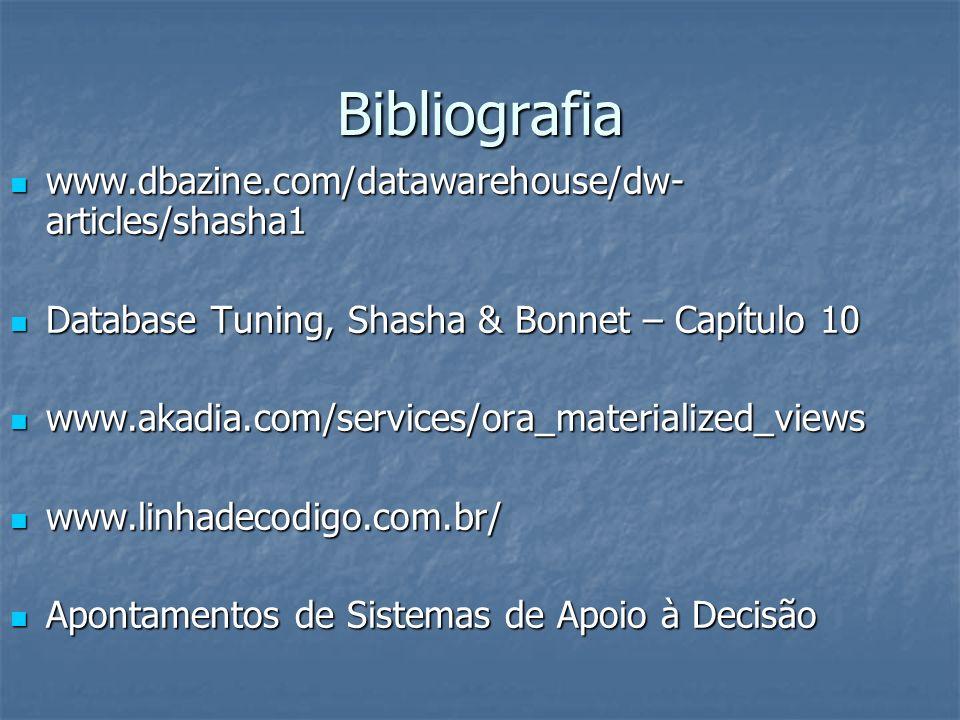 Bibliografia www.dbazine.com/datawarehouse/dw-articles/shasha1