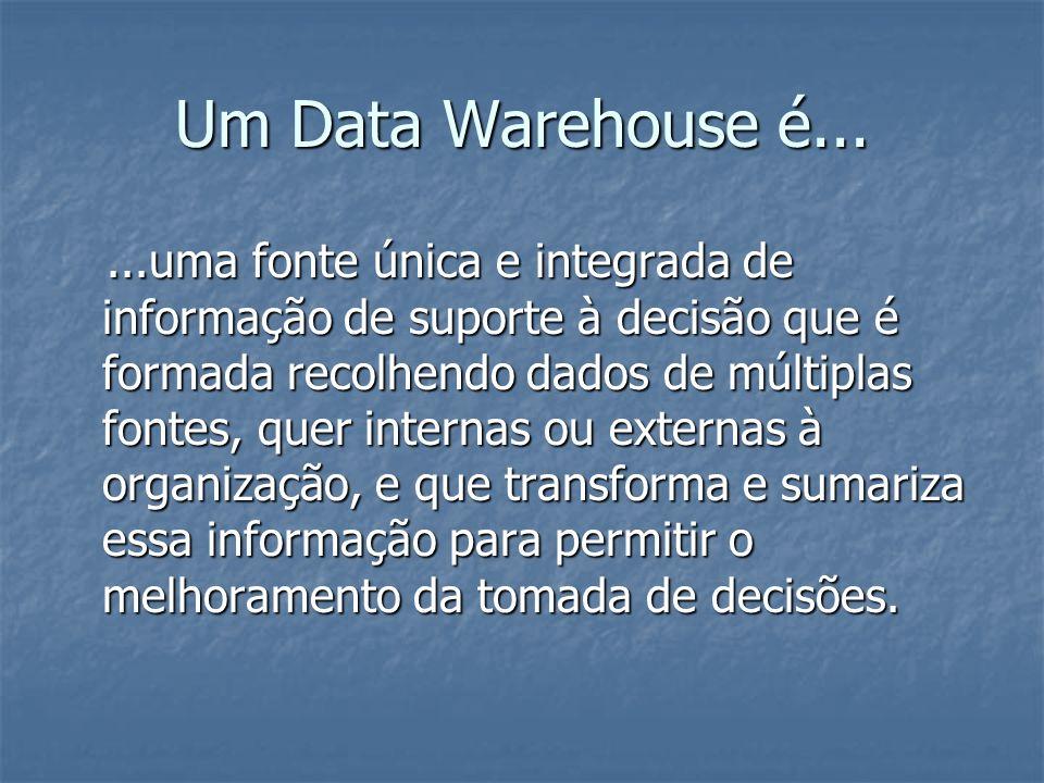Um Data Warehouse é...