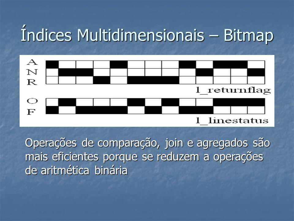 Índices Multidimensionais – Bitmap