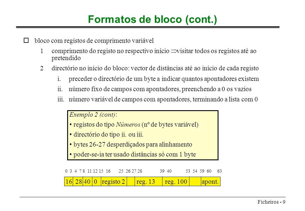 Formatos de bloco (cont.)