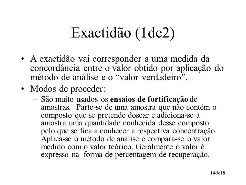 Exactidão (1de2)