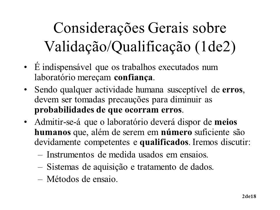 Considerações Gerais sobre Validação/Qualificação (1de2)