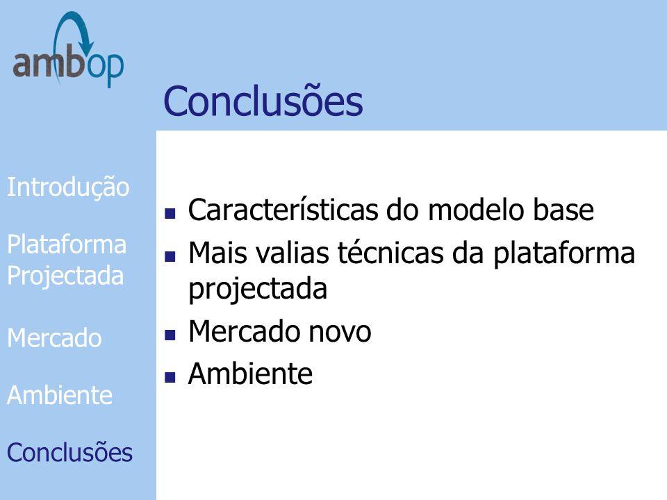 Conclusões Características do modelo base