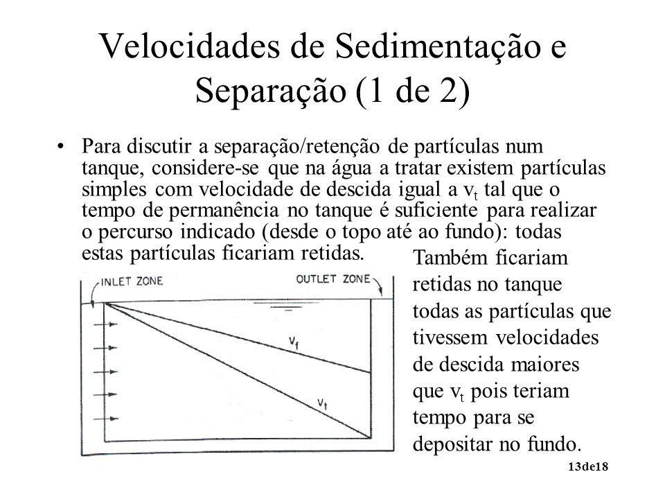 Velocidades de Sedimentação e Separação (1 de 2)