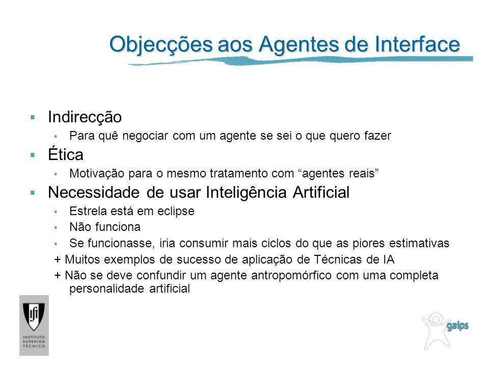 Objecções aos Agentes de Interface