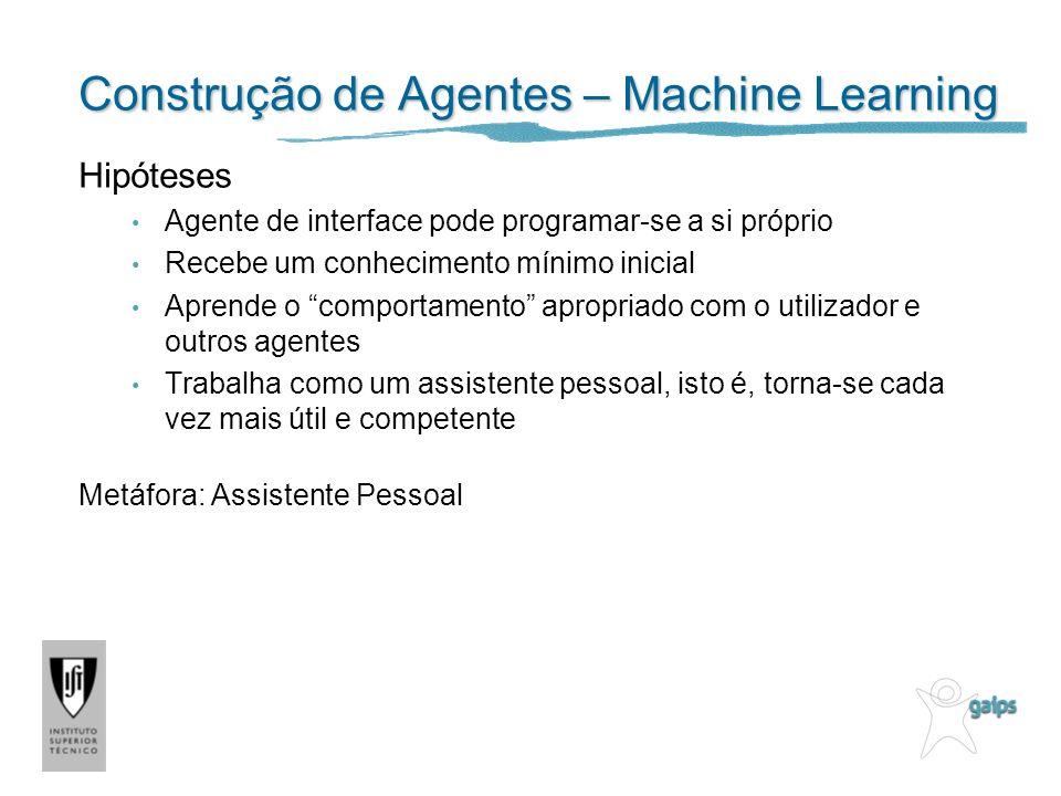 Construção de Agentes – Machine Learning
