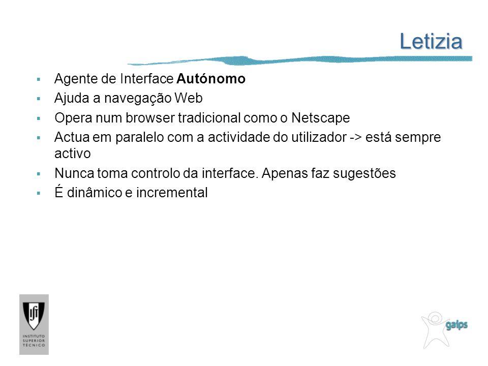 Letizia Agente de Interface Autónomo Ajuda a navegação Web