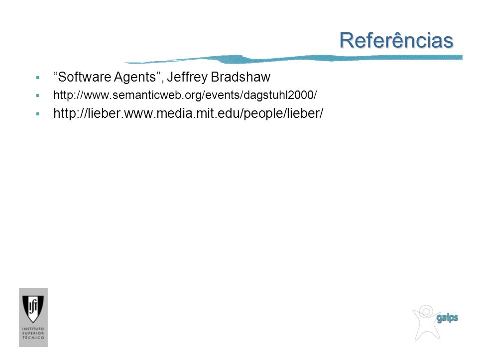 Referências Software Agents , Jeffrey Bradshaw