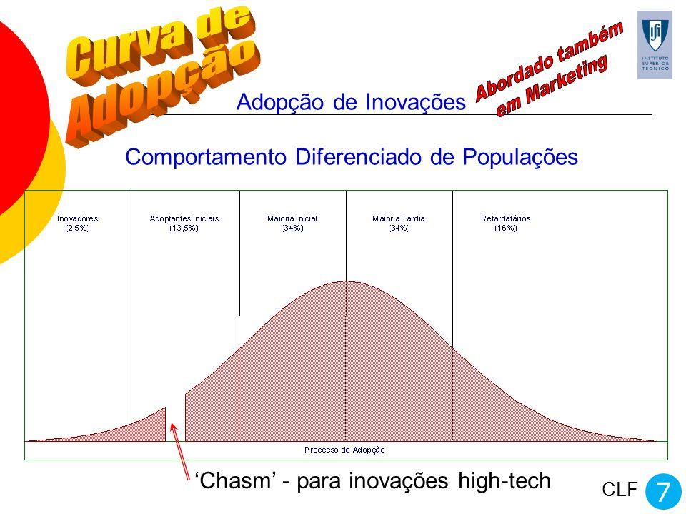 Adopção de Inovações Comportamento Diferenciado de Populações