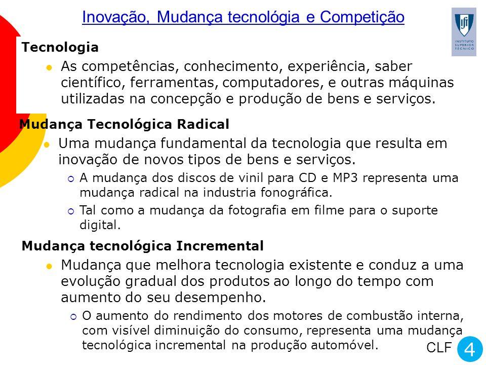 Inovação, Mudança tecnológia e Competição