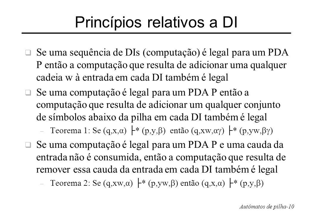 Princípios relativos a DI