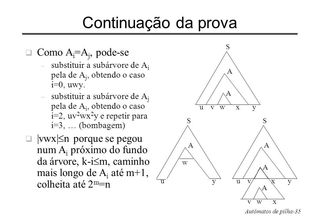 Continuação da prova Como Ai=Aj, pode-se