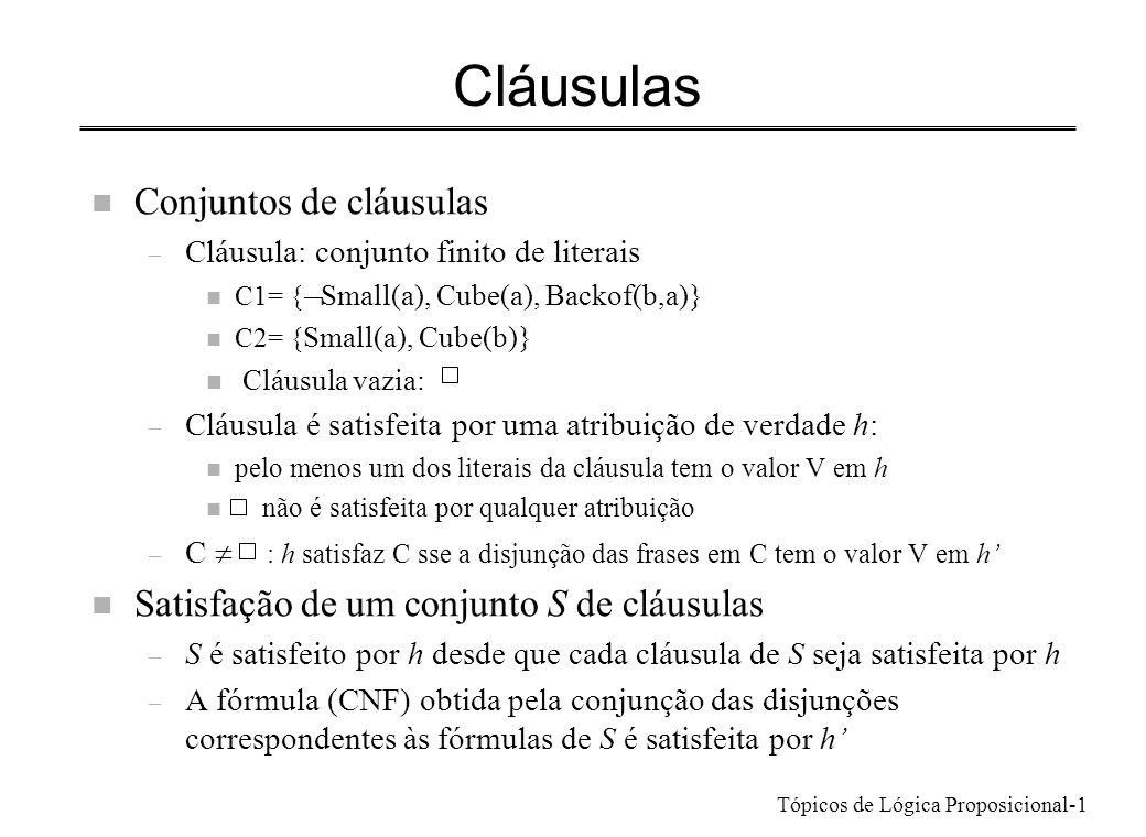 Cláusulas Conjuntos de cláusulas