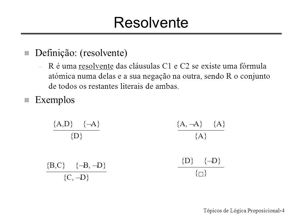 Resolvente Definição: (resolvente) Exemplos