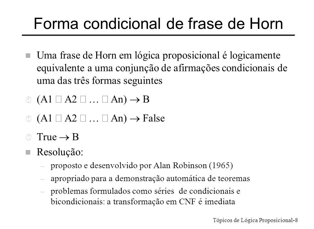 Forma condicional de frase de Horn