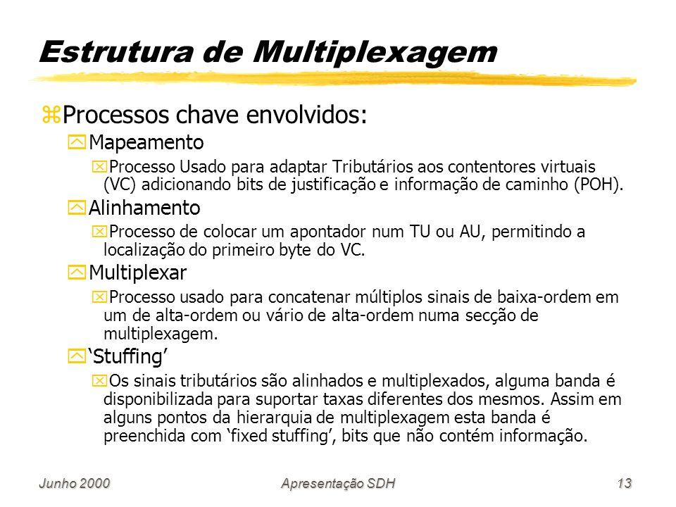 Estrutura de Multiplexagem