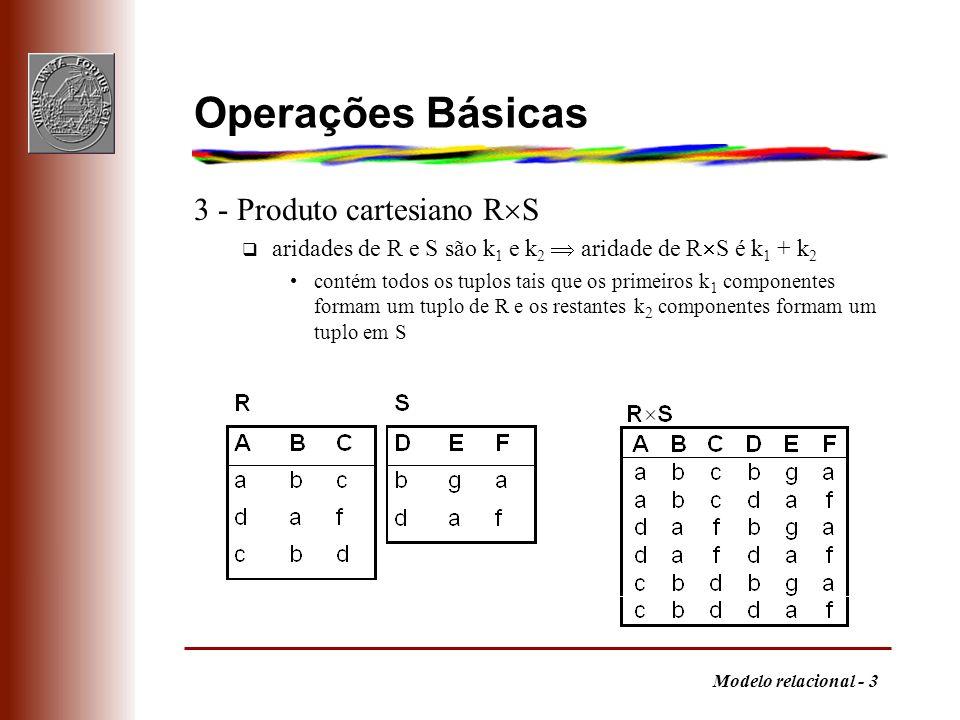 Operações Básicas 3 - Produto cartesiano RS