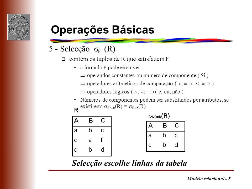 Operações Básicas 5 - Selecção F (R)