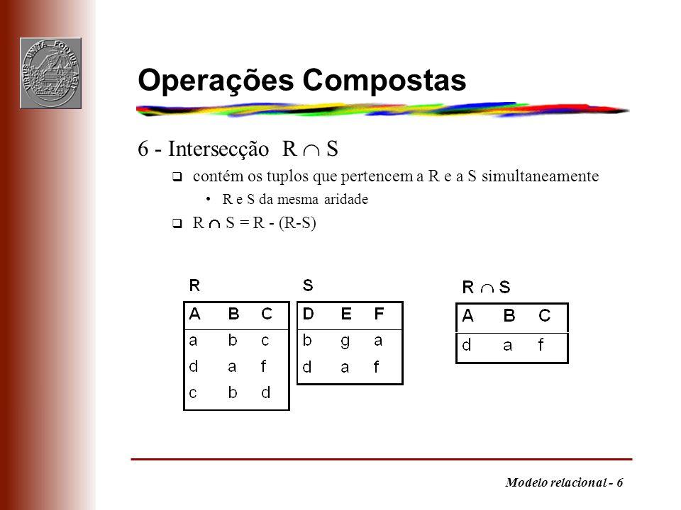 Operações Compostas 6 - Intersecção R  S