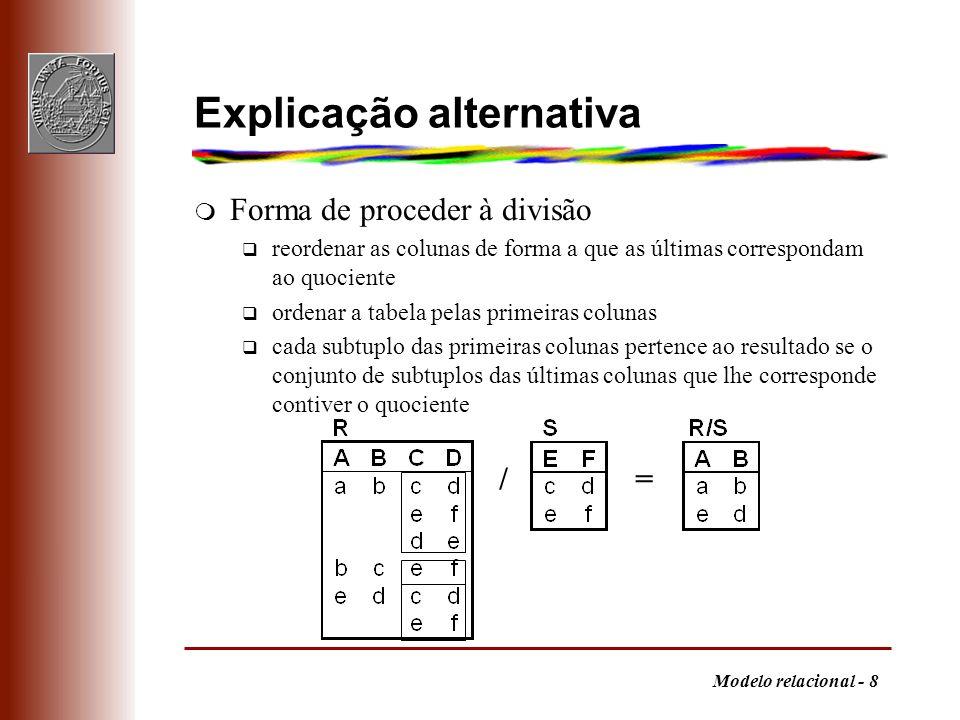 Explicação alternativa