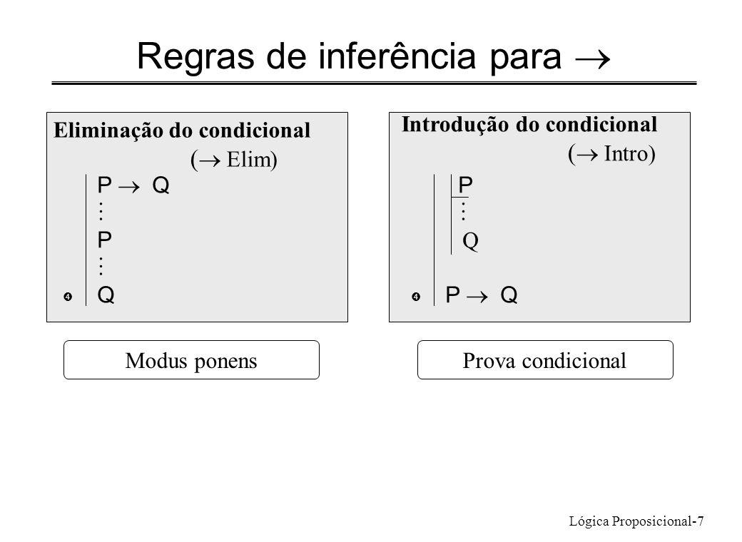 Regras de inferência para ®