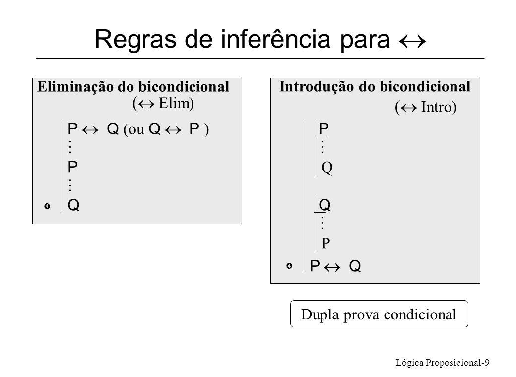 Regras de inferência para «