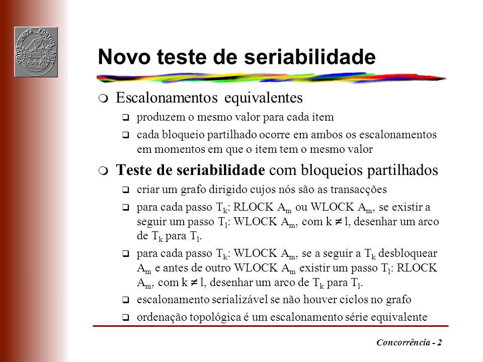 Novo teste de seriabilidade