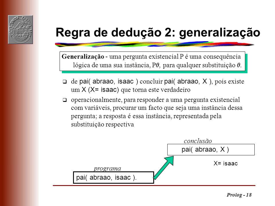 Regra de dedução 2: generalização