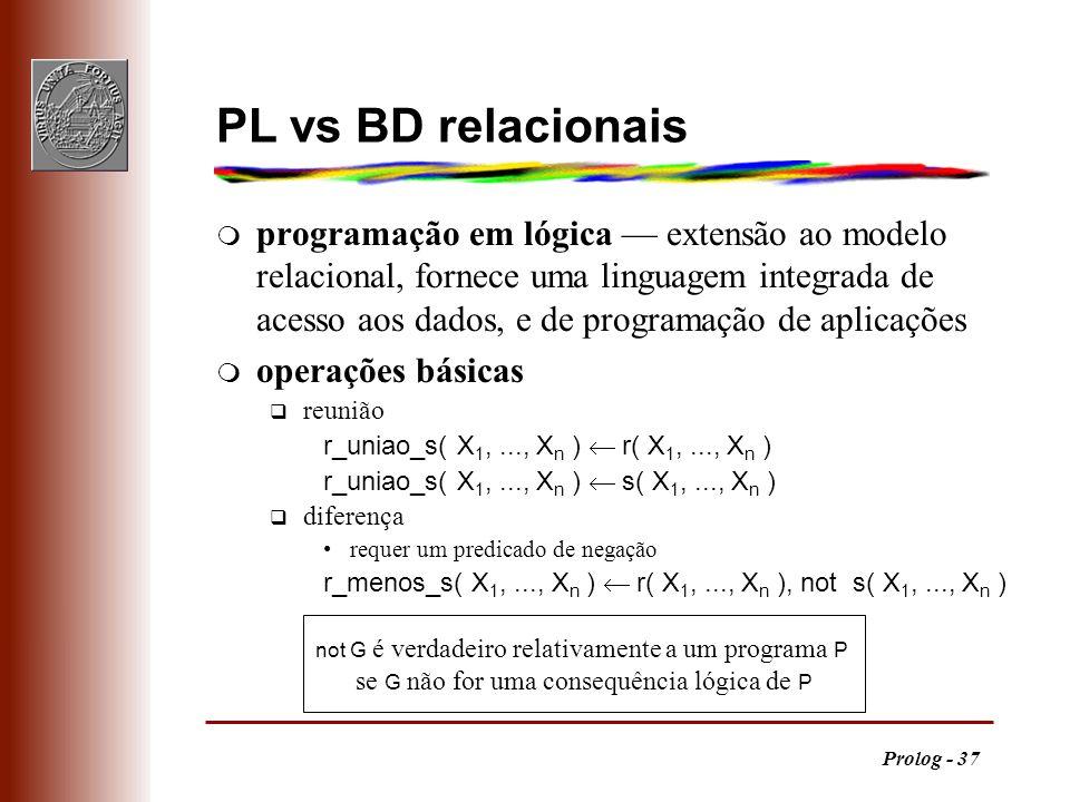 PL vs BD relacionais