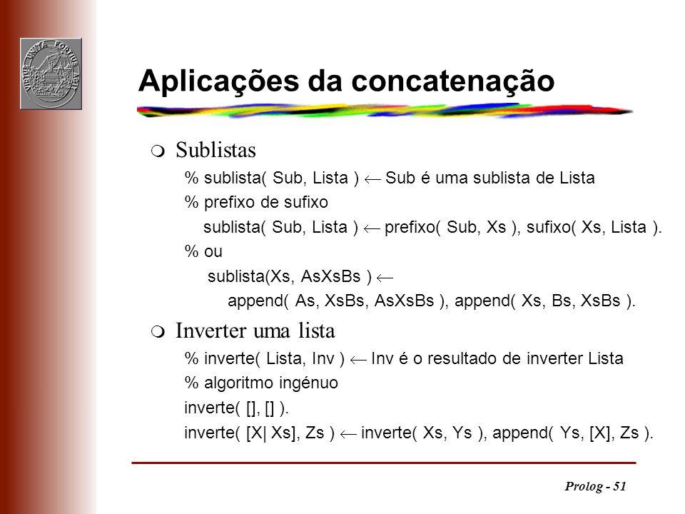 Aplicações da concatenação