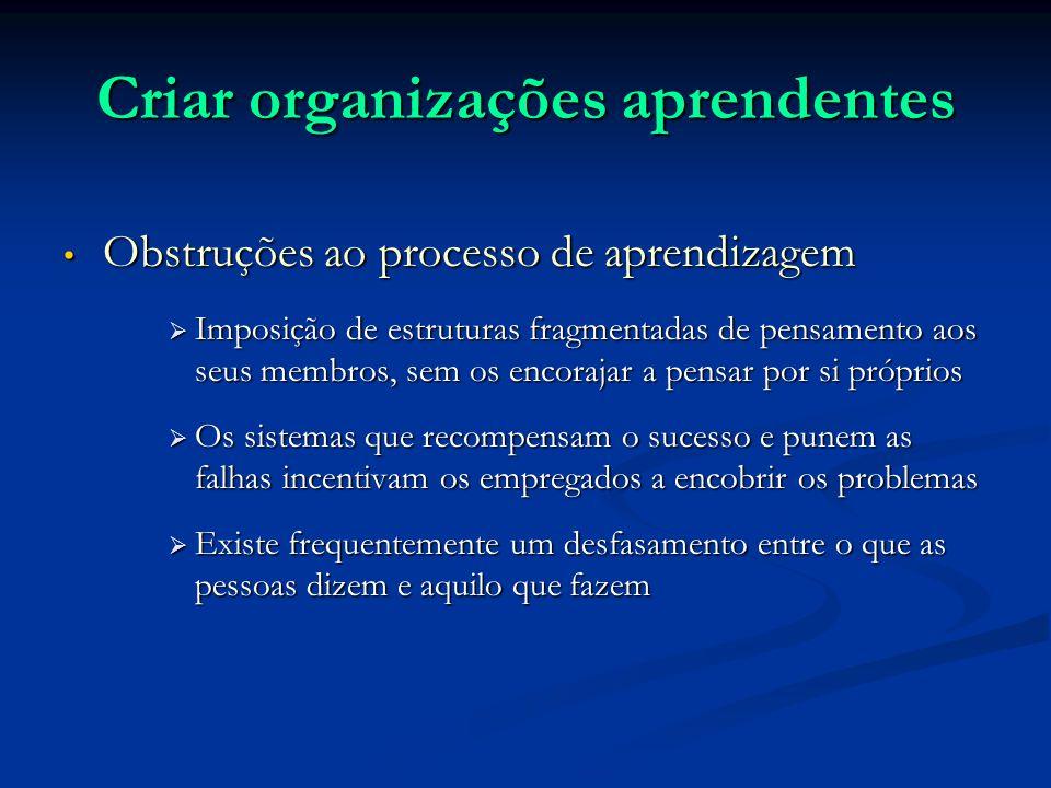 Criar organizações aprendentes